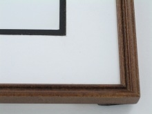"Custom Picture Frame Sku: 100  1/2"" Rosewood"