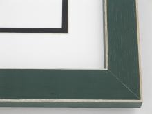 "Custom Picture Frame Sku: 107  1-1/4"" Green Shaker Style W Beveled Edges"