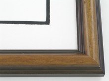 "Custom Picture Frame Sku: 152  1-1/2"" Walnut On Ramen"