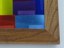 "Custom Picture Frame Sku: 156  1 1/2"" Stain Glass Walnut"
