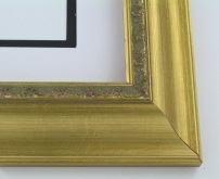 "wood Custom Picture Frame Sku: 180A  2 1/4"" Gold Leaf"