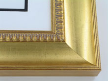 "wood Custom Picture Frame Sku: 194A  3"" Gold W/compo Lip Scoop"