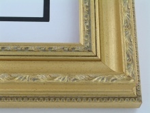 "wood Custom Picture Frame Sku: 196A  3"" Gold With Compo"