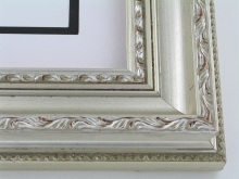 "wood Custom Picture Frame Sku: 197A  3"" Silver Compo"