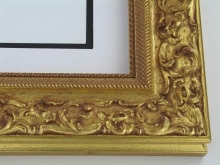 "wood Custom Picture Frame Sku: 198A  3"" Gold Ornate"