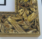 "wood Custom Picture Frame Sku: 200A  4"" Gold Ornate W/wash"