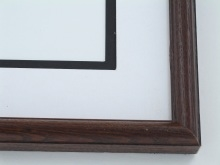 "Custom Picture Frame Sku: 210  1"" Satin Walnut Ash Round Top"