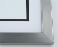 "Custom Picture Frame Sku: 213A  1 1/4"" Stainless Steel On Wood"