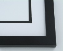 "wood Custom Picture Frame Sku: 214A  1"" Flat Top Black"