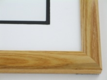 "Custom Picture Frame Sku: 215  1"" Oak Round Top Honey Color"