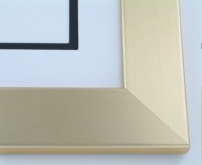 "Custom Picture Frame Sku: 217  2"" Brushed Gold On Wood"