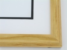 "Custom Picture Frame Sku: 219  1"" Honey Color Oak"