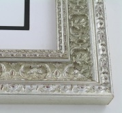 "wood Custom Picture Frame Sku: 220A  2 1/2"" Ornate Silver"