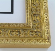 "wood Custom Picture Frame Sku: 221A  2 1/2"" Gold Ornate"