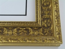 "wood Custom Picture Frame Sku: 223A  4"" Antique Gold Ornate"