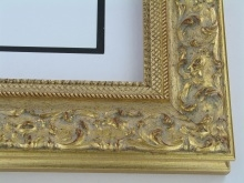 "wood Custom Picture Frame Sku: 227A  3"" Gold Ornate With Wash"