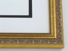 "wood Custom Picture Frame Sku: 246  1 1/4"" Dark Gold Leaf"
