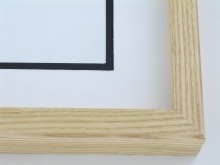 Wood Custom Picture Frame Sku 250 7 8 Natural Ash Clear Coat