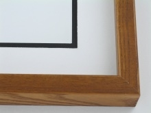 "Custom Picture Frame Sku: 251  1 1/2"" Dark Oak High Back"