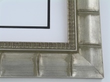 "wood Custom Picture Frame Sku: 254A  2 3/4"" Silver Bamboo"