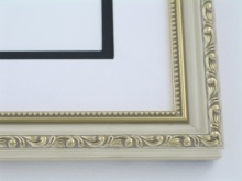 "wood Custom Picture Frame Sku: 255  1 1/4"" Ivory Gold Leaf"