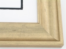 "Custom Picture Frame Sku: 261A  2 3/8"" Olde World Gold"
