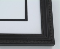 "Custom Picture Frame Sku: 313  1 1/4"" Walnut With Beaded Lip"