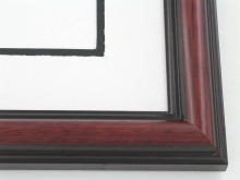 "Custom Picture Frame Sku: 323  1-1/2"" Two Tone Paduque"