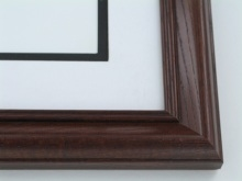 "wood Custom Picture Frame Sku: 334  1 1/2"" Ash Satin Walnut"