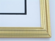 "Custom Picture Frame Sku: 352  1"" Gold Leaf Reverse"