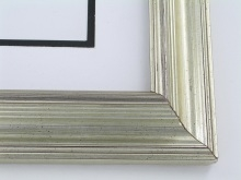 "wood Custom Picture Frame Sku: 353  1 3/4"" Reverse Silver Leaf"