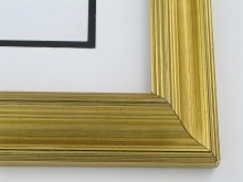 "Custom Picture Frame Sku: 354  1 3/4"" Gold Leaf"