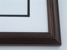 "Custom Picture Frame Sku: 370  1 1/8"" Walnut Rev Furn Finish"