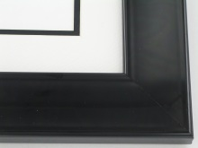 "wood Custom Picture Frame Sku: 373B  2"" Gloss Black Lacquer"