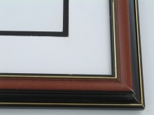 "Custom Picture Frame Sku: 379  1 1/4"" Cherry W/blk Back & Lip"