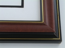 "Custom Picture Frame Sku: 382  1 3/4"" Cherry W/blk Back"