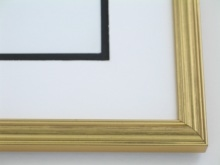 "Custom Picture Frame Sku: 383  3/4"" Round Top Gold Leaf"
