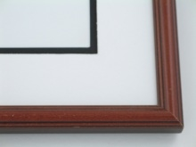 "Custom Picture Frame Sku: 385  3/4"" Round Top Cherry Finish"