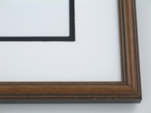 "Custom Picture Frame Sku: 386  3/4"" Round  Top Walnut Finish"