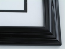 "wood Custom Picture Frame Sku: 387A  1 1/2"" Shiny Black"