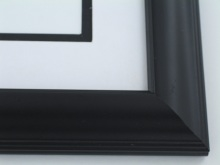 "wood Custom Picture Frame Sku: 388A  1 3/4"" Matte Black"