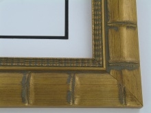 "wood Custom Picture Frame Sku: 389A  2 3/4"" Gold Bamboo"