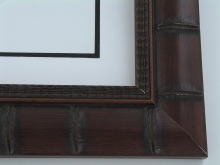 "wood Custom Picture Frame Sku: 390A  2 3/4"" Brown Bamboo"