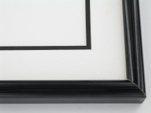 "wood Custom Picture Frame Sku: 396A  1-1/4"" Black Laquer"