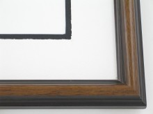 "Custom Picture Frame Sku: 400  1"" Walnut On Ramen"