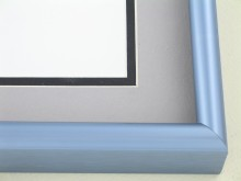 metal Custom Picture Frame Sku: 43-19  Frosted Blue Pewter