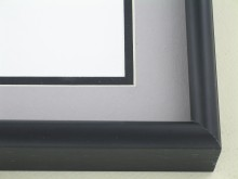 metal Custom Picture Frame Sku: 43-25  Satin Black