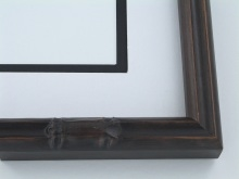 "wood Custom Picture Frame Sku: 431A  1"" Walnut Bamboo"