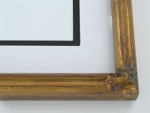 "wood Custom Picture Frame Sku: 438A  1"" Gold Bamboo"