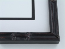 "wood Custom Picture Frame Sku: 440A  1"" Black Bamboo"